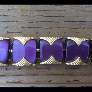 Jewelry - Vintage Gold and Purple Bracelet